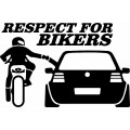 Nalepka Respect  for bikers