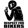 Nalepka Respect for bikers 2