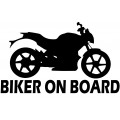 Nalepka BIKER ON BOARD
